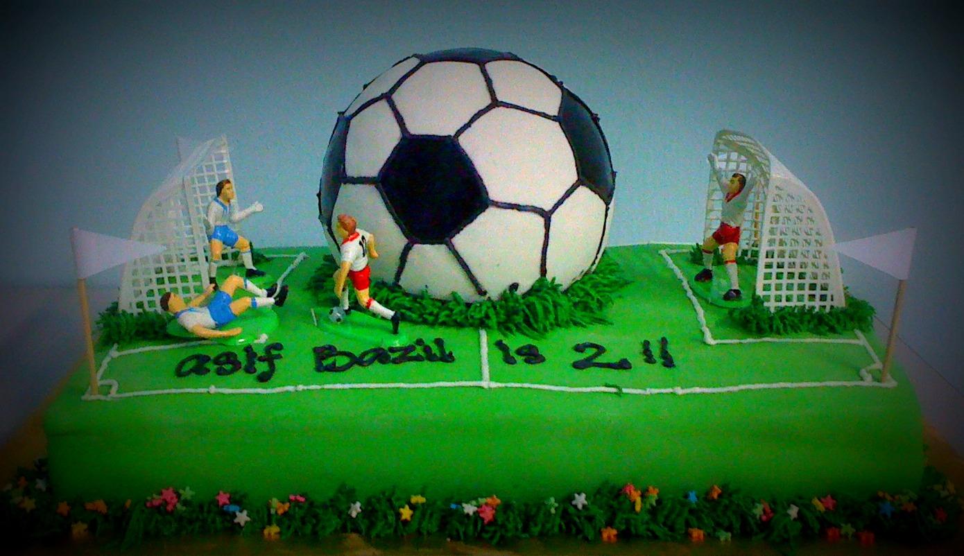 Goal Soccer Field Cake Artistique Cakes
