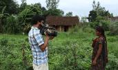 Shooting at Phula Rani Tharu's Home Garden