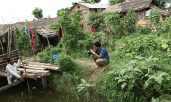 Shooting at the Home Garden of Prem Bahadur BK
