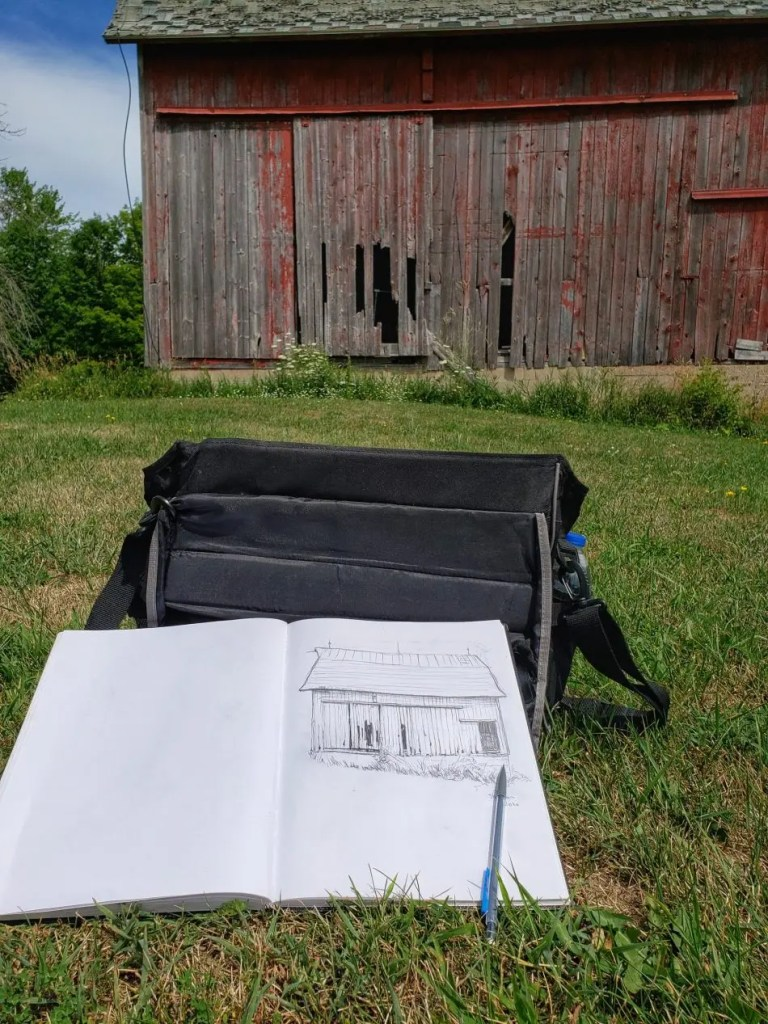 A photo of a sketch of a Commission Barn.jpeg