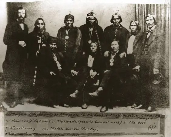Old Photo of Lake Superior Chippewa Chiefs