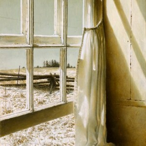 "Artist: Michael Dumas Title: Mild Spell Medium: Oil on Russian Birch Size: 10"" x 7.25"""