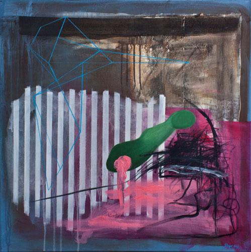 "Detlef Gotzens - St. Chrysostome, Canada Title: Fermented Abstraction # 3 Medium: Acrylic on Canvas Size: 30"" x 30"""