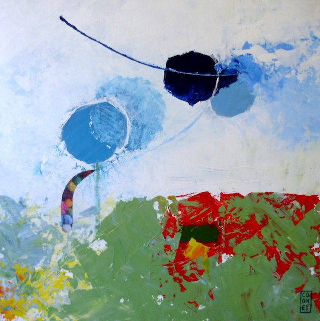 Magdalena Cooney - Seattle, WA Title: Flying away thought Medium: Mixed media Size: 12x12