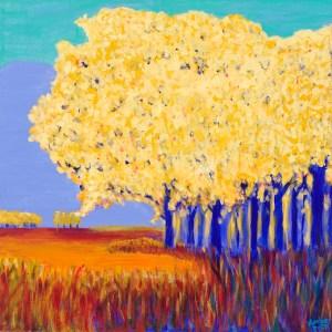 "Amber Buck - Woodland, WA Title: Country Trees Medium: acrylic on canvas Size: 20""x20"""