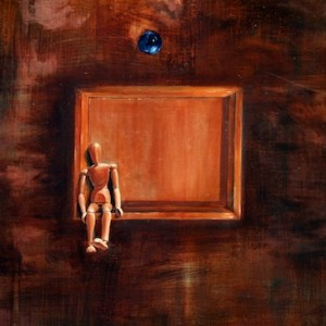 Title: A Square of World - Have a Dream to Deviate Medium: Oil on Canvas Size: 35X20 inches