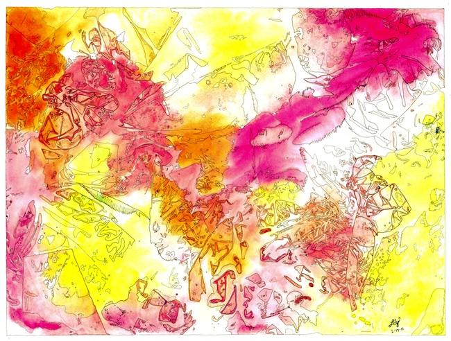 Title: Sensitivity Medium: Water Color Contourage Size: 24 x 30