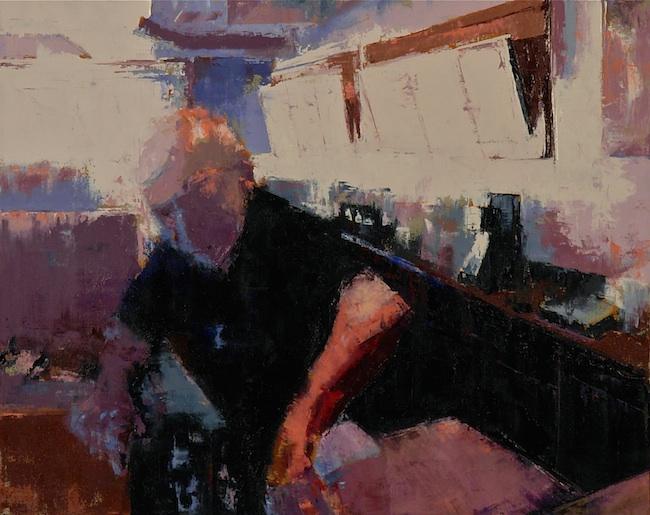 Lisa Taylor - Dublin, CA Title: Behind the Bar Medium: Oil on Canvas Size: 24x30