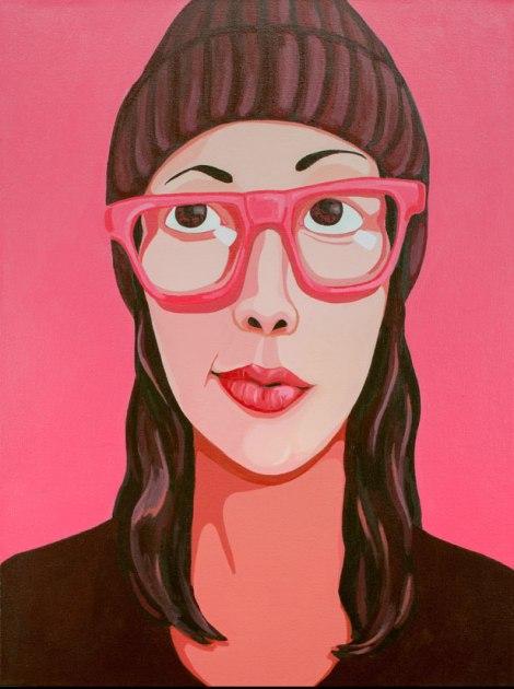 TitleSelfie Portrait   Mediumacrylic on canvas   Size18x24 inches