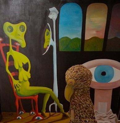 """TitleThe Uncut Memories   MediumOil paint on Wood Panel   Size39""""x39"""""""
