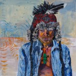 "Meredith Turcotte – Topsfield, MA TitleJourney   Mediumacrylic on wood   Size24"" x 24"""