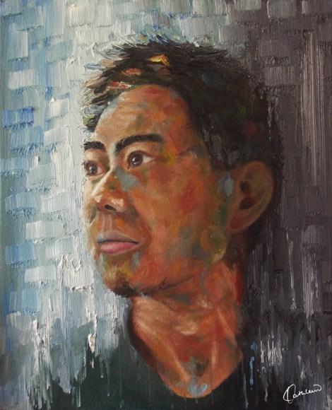 TitleBlue Gray   Medium Oil on canvas   Size40cm x 50cm