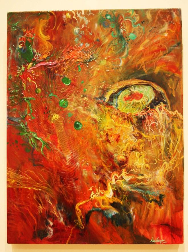 Title Birth of a Nazi   Medium oil of canvas   Size 18x24