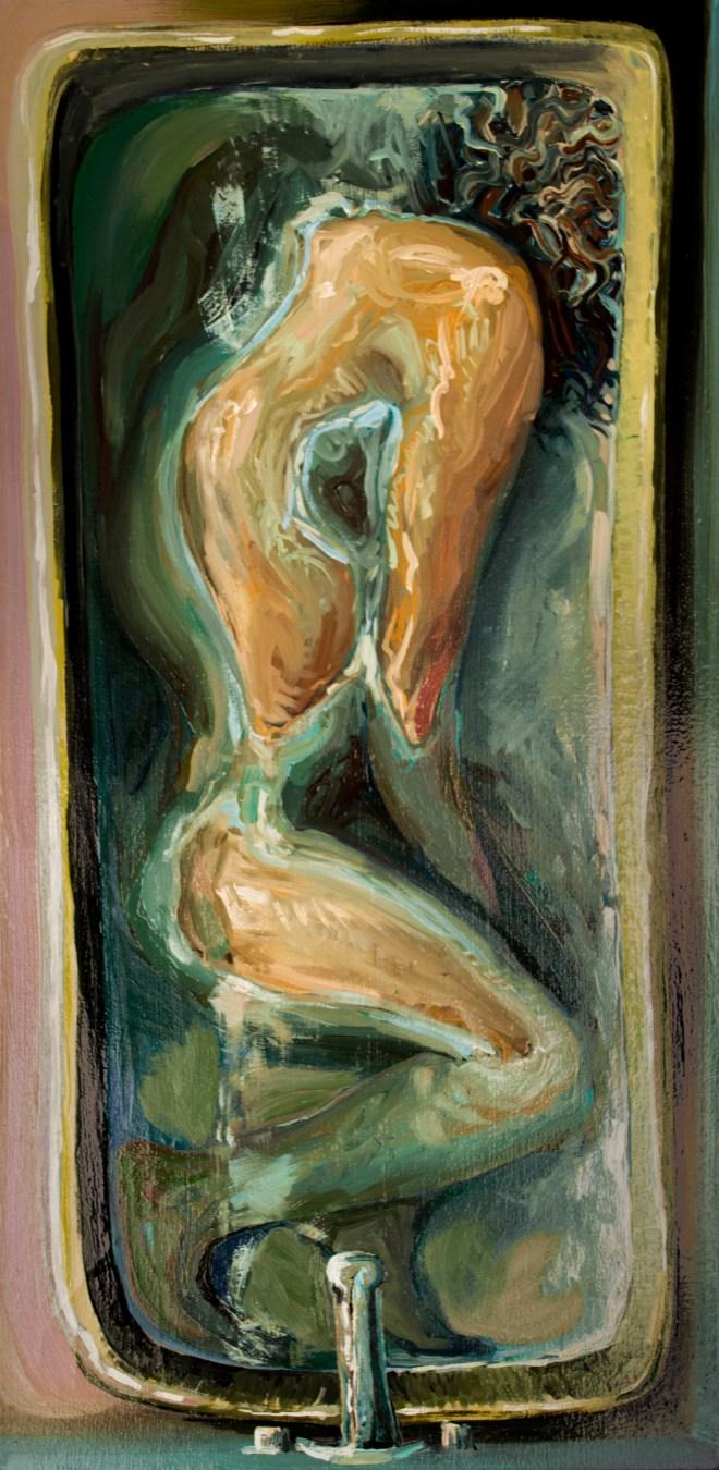Title Sick   Medium oil on canvas   Size 10x20