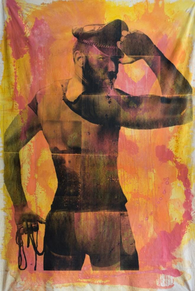 Title Nylon   Medium serigraph and acrylic ink on canvas   Size 7' x 4'