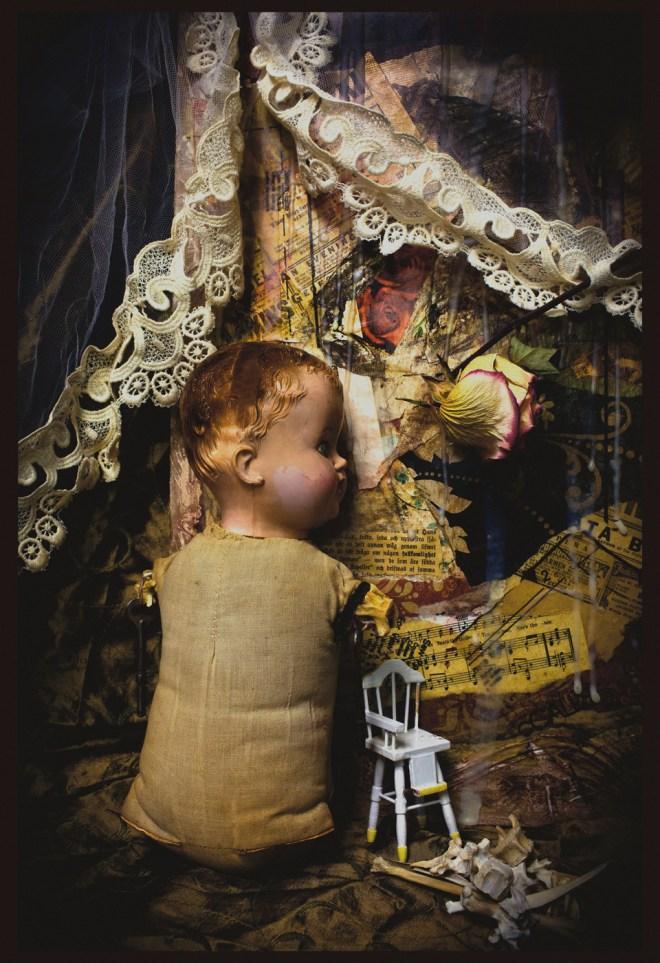 Title Lost Childhood: Bomber Baby   Medium  Digital, Pigmented Ink-jet print   Size 13