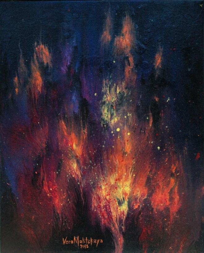 "Title ""Ethereal""   Medium acrylic paint on canvas   Size 16x20"