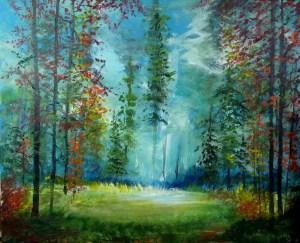 Title:Forest Light Medium: Acrylic on canvas Size:60X50cm