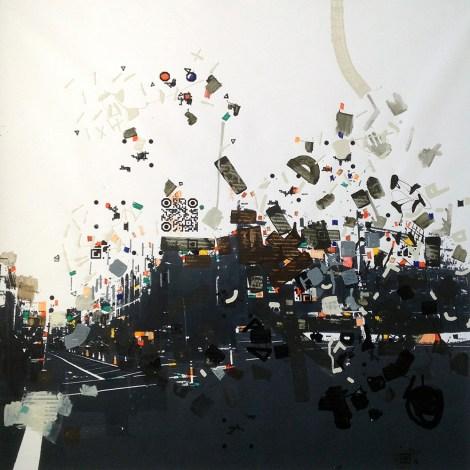 """Title:Carmiin Leroyy Medium:acrylic on B/W printed canvas Size:39"""" x 39"""""""