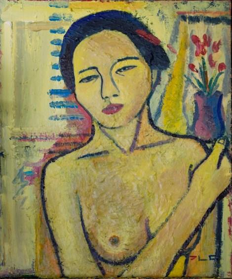 Title:Yellow Nude Medium:Acrylic on canvas Size:60 x 73 cm