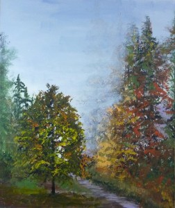 Title:Autumn Leaves Medium: Acrylic on canvas Size:50X60cm