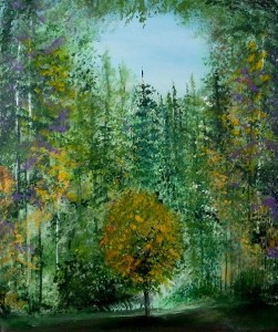 Title:The Healing Tree Medium: Acrylic on canvas Size:50X60cm