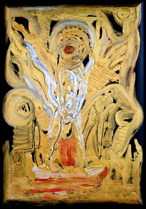 Title:Dancing Shiva Medium:Acrylic on canvas Size:28/20 inch