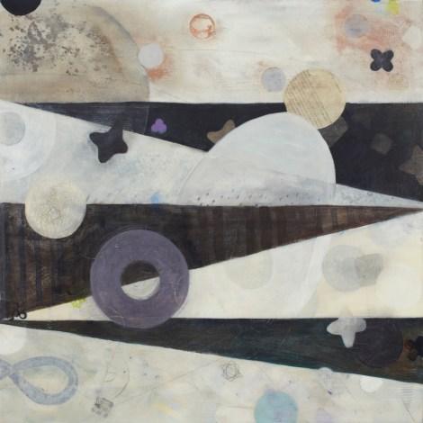 "Title:Dreamboat Medium:Acrylic & Mixed Media on Wood Panel Size:24"" x 24"""