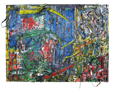 Title:Amazon on the Edge Medium:Oil and gloss paint skin cut-outs on board Size:120 x 160 cm