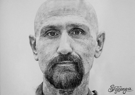 Title:Robert LaSardo Medium:	Pencil Size:	29,7 x 42 cm