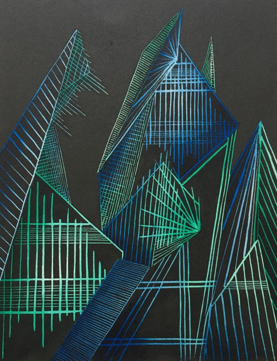 Title: Creation Medium: Linoleum Print, colored ink Size: 11x15