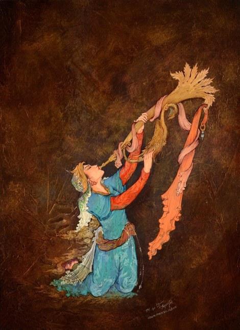 Title Angel trumpet Medium Gouache, watercolor, acrylic Size 60 x 40 cm