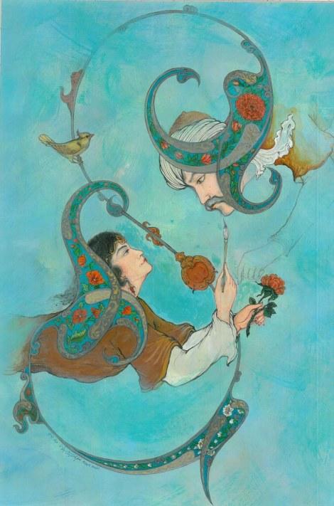 Title Fantasy romance Medium Gouache, watercolor, acrylic Size 50 x 35 cm
