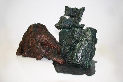 Title:Devastated Rocks Medium:	Mixed Media Size:	24 inches by 24 inches by 24 inches