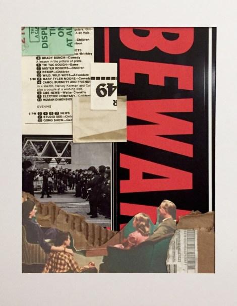 Title:Beware of Box Media Medium:Mixed Media Collage Size:11 x 14