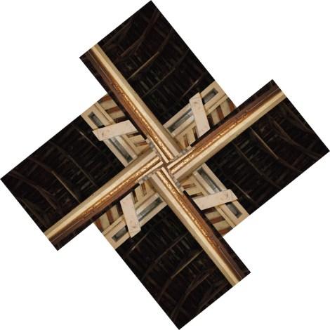 "Title:Pinwheel Barn Roof Medium:Photography Size:24""x24"" inches"