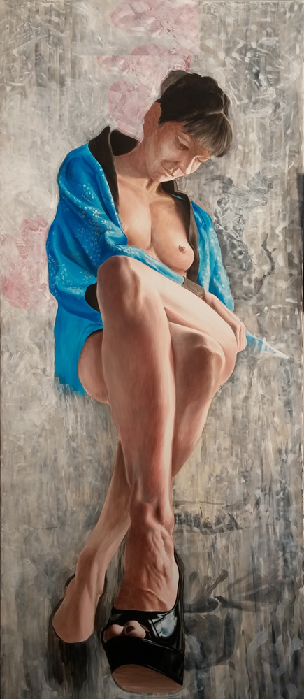 Title:Blue mood Medium:Acrylic Size:244/100 cm