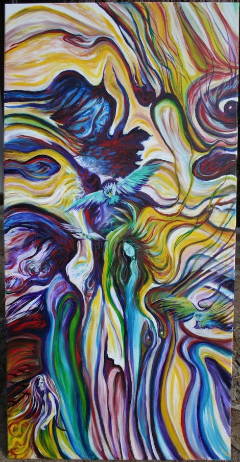 """Title:Wind Whispers to My Soul Medium:Acrylic Size:30""""x20"""""""