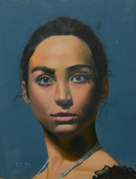 Title:Portrait of a Girl Medium:Oil Size:9 in. x 12 in. (approx.)