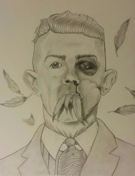 Title:Jimmy Keeps The Peace Medium:	Pencil on paper Size:	18 x 24