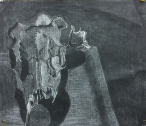 Title:The Chariot Medium:	white conte Size:	9x12