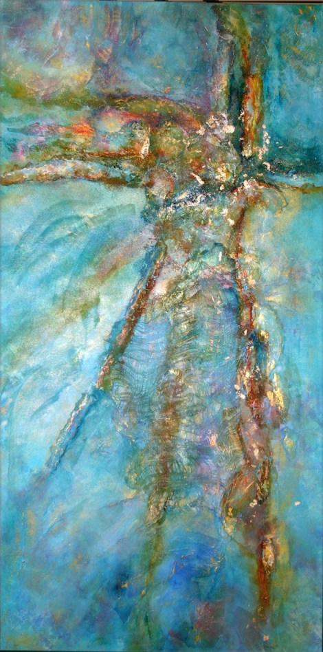 Title:Contemplation of Sea and Sun Medium:	Mixed Media, Acrylic Size:	24x48