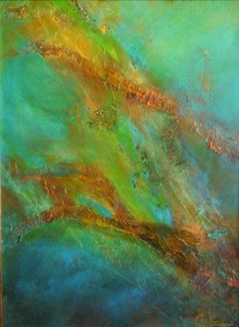 Title:At the Bottom of the Sea Medium:Mixed Media, Acrylic Size:18x24