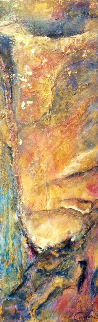 Title:Emerging Medium:Mixed Media, Acrylic Size:12x36