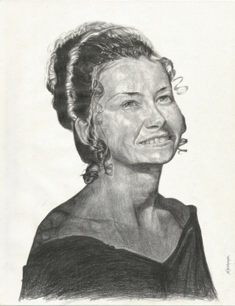 "Title:Barbara Medium:	pencil Size:	11"" x 8-1/2"""