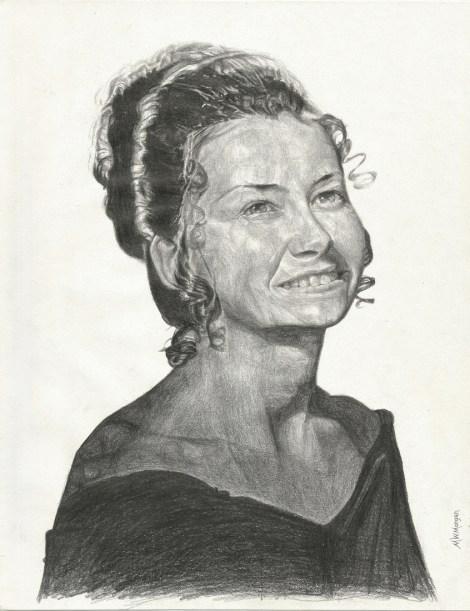 "Title:Barbara Medium:pencil Size:11"" x 8-1/2"""