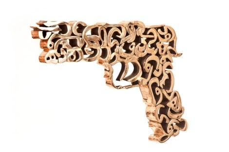 Title:The golden gun Medium:Bronze Size:39 X 3.5 X 26.5