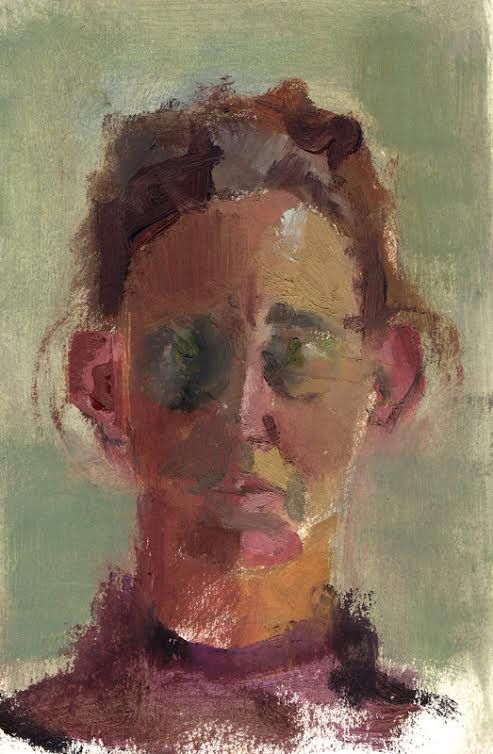 Title portrait in light Medium oil on paper Size 23/15 cm