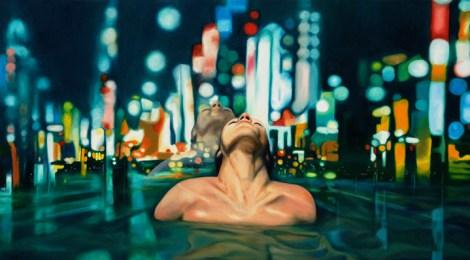 "TitleInner City   Mediumoil on canvas   Size30"" x 52"""
