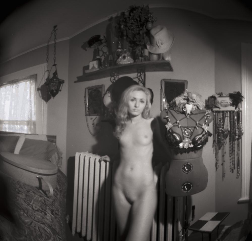 "Title Zoe_W_01-07-16--01AC Medium Pinhole camera - Archival pigment print Size H 19.14"" x W 20.00"" framed H 30"" x W 24"""